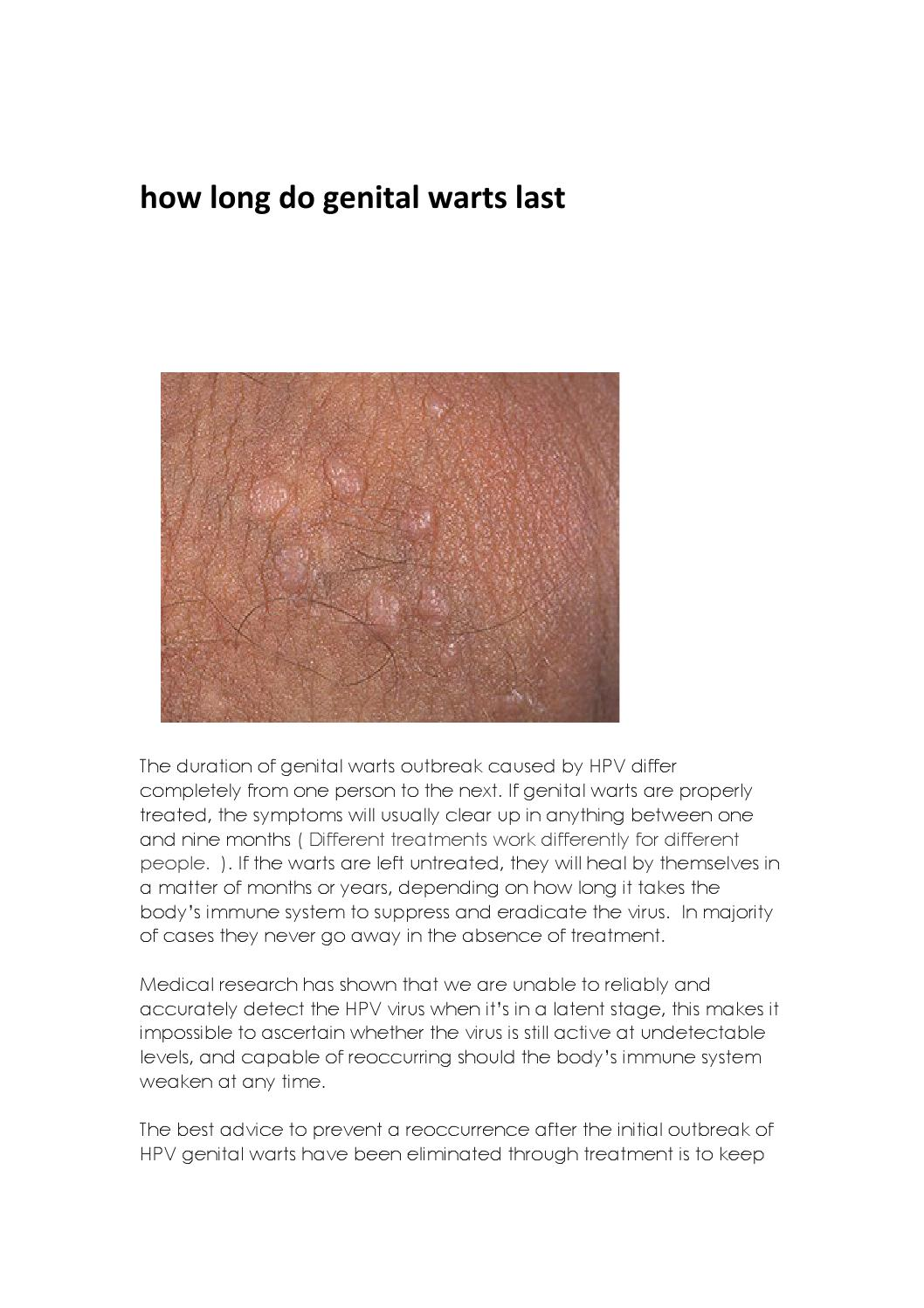 hpv wart go away