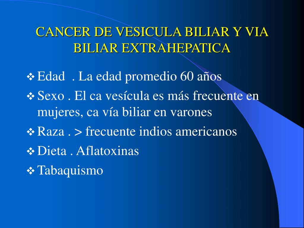 Cancer vesicula biliar causas