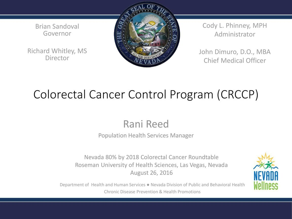 colorectal cancer control program