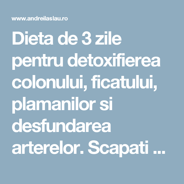 zone de detoxifiere in romania