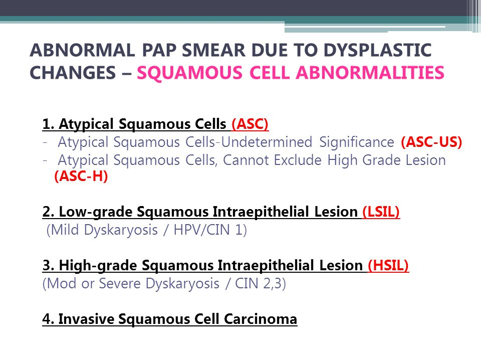 Hpv high risk atypical squamous cells,