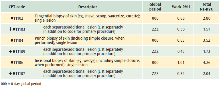 excision of papilloma cpt code)