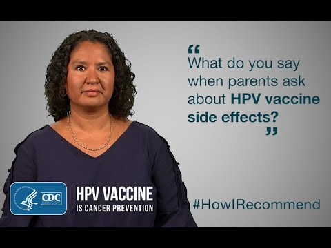 Side effects of human papillomavirus vaccine in pregnancy. Traducere