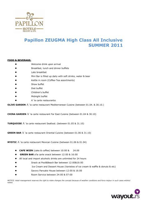 papillon zeugma all inclusive concept