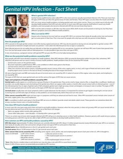 genital hpv infection cdc fact sheet)