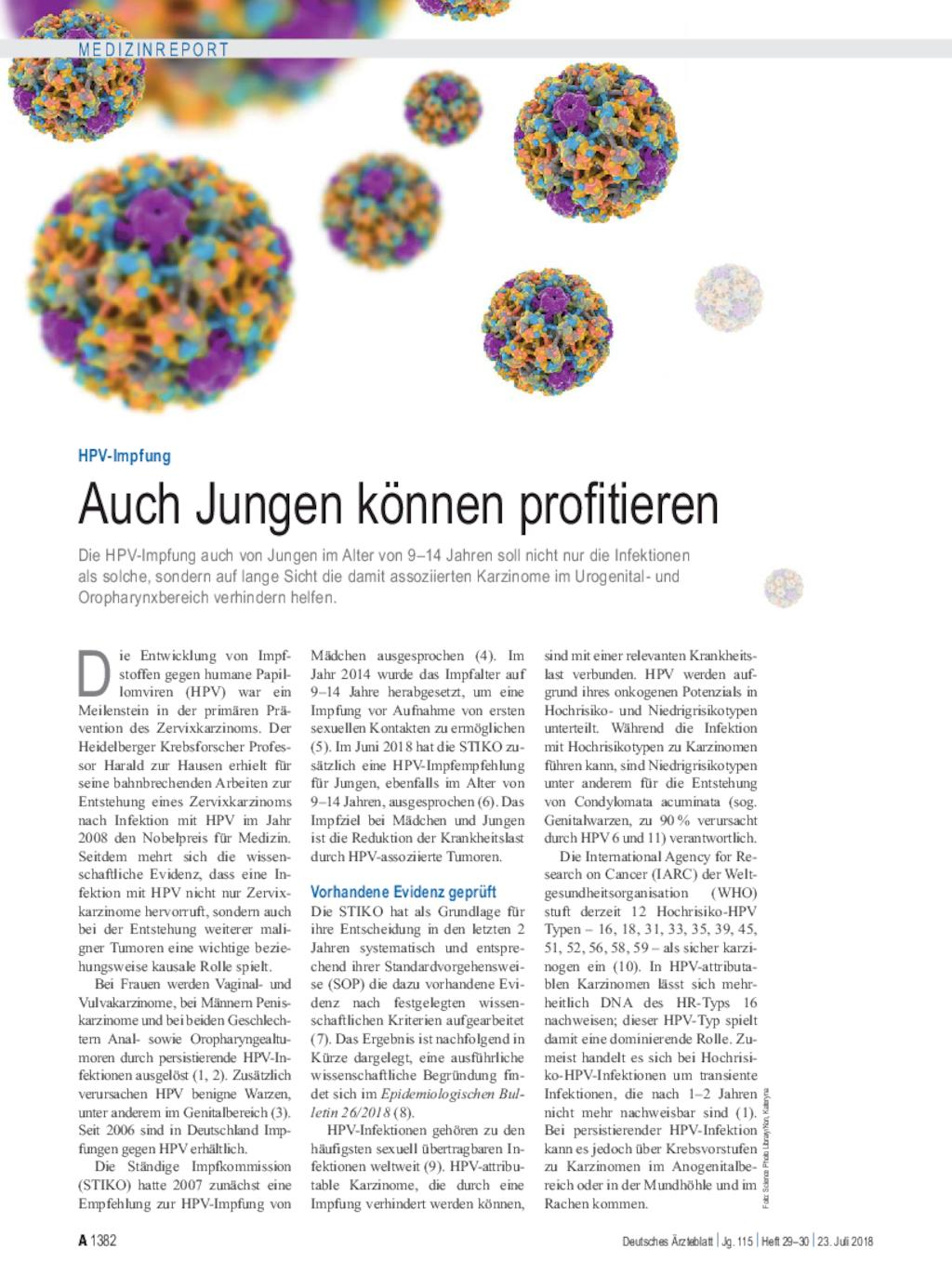 Hpv impfung jungen contra