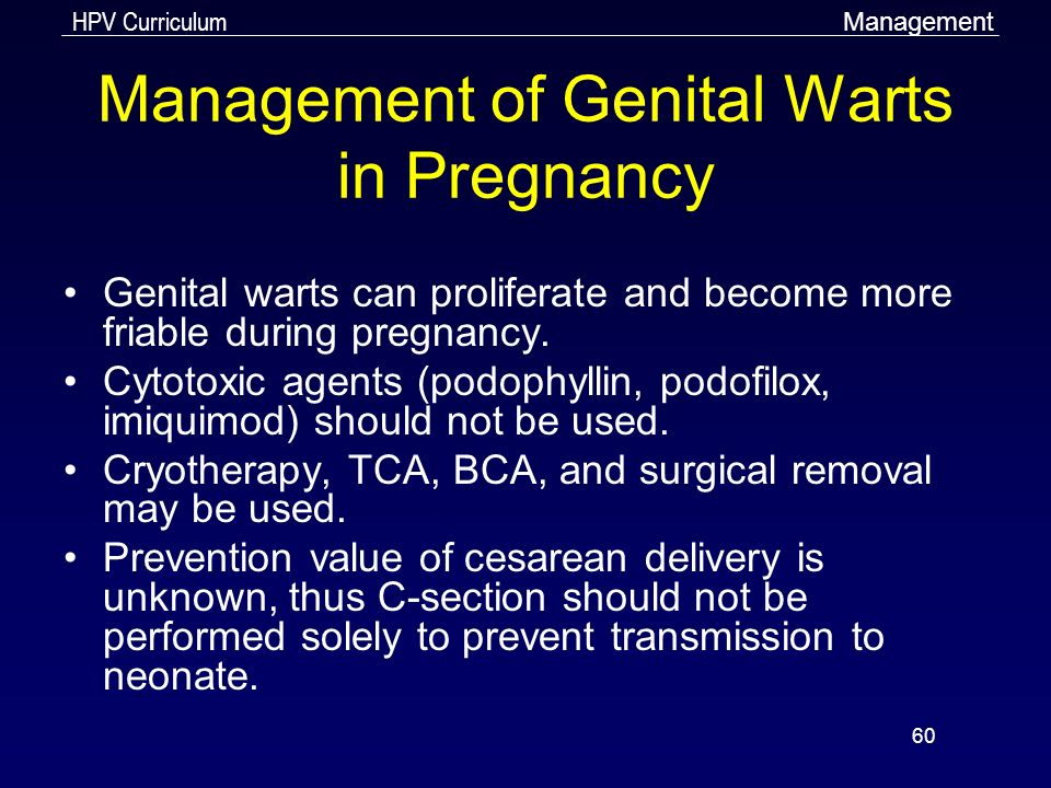 warts treatment during pregnancy