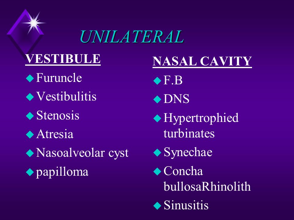 papilloma nasal obstruction