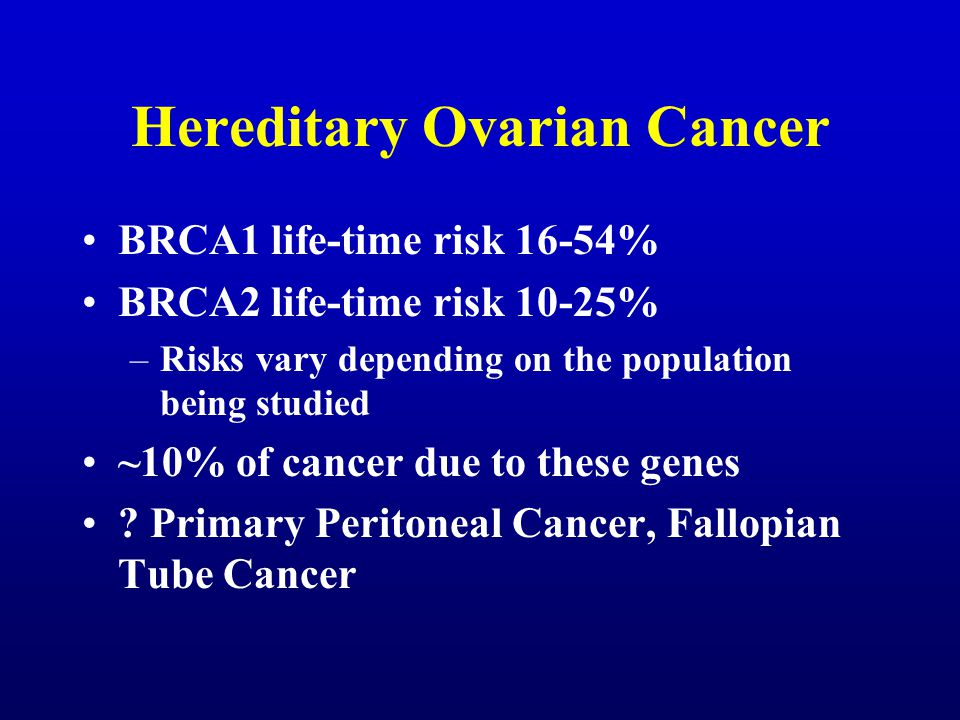 peritoneal cancer hereditary)