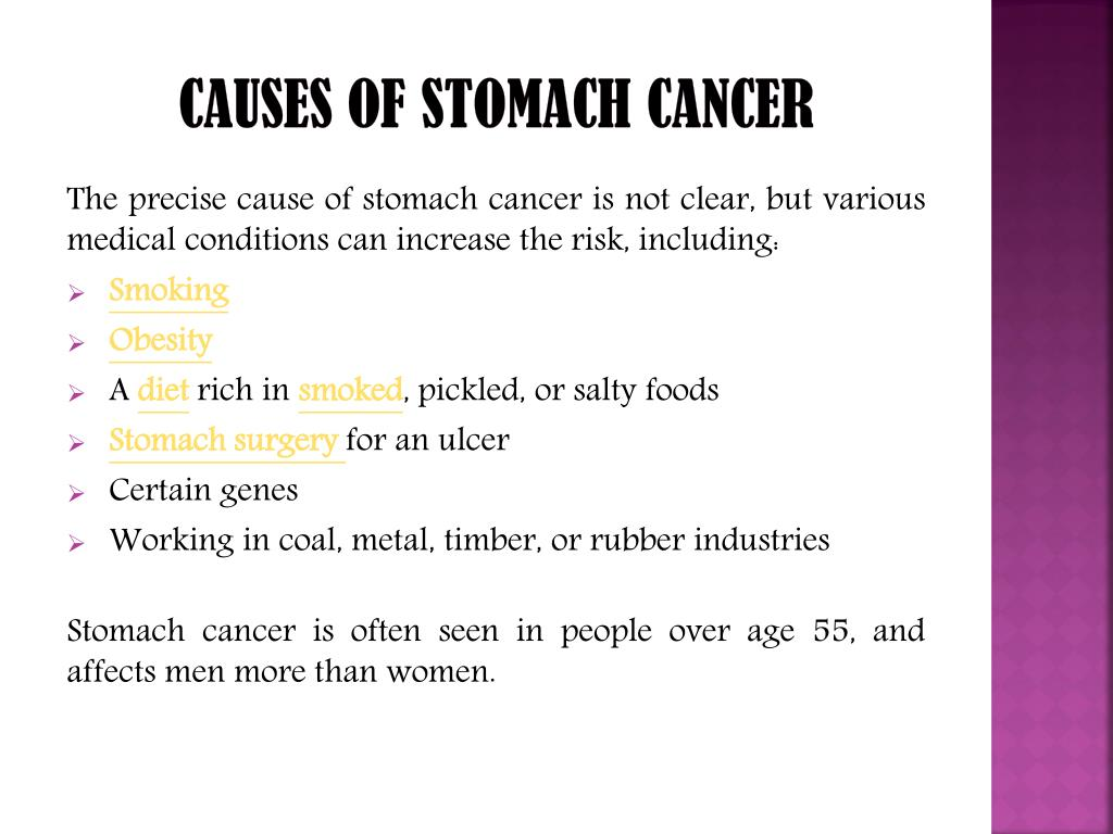 gastric cancer of causes)