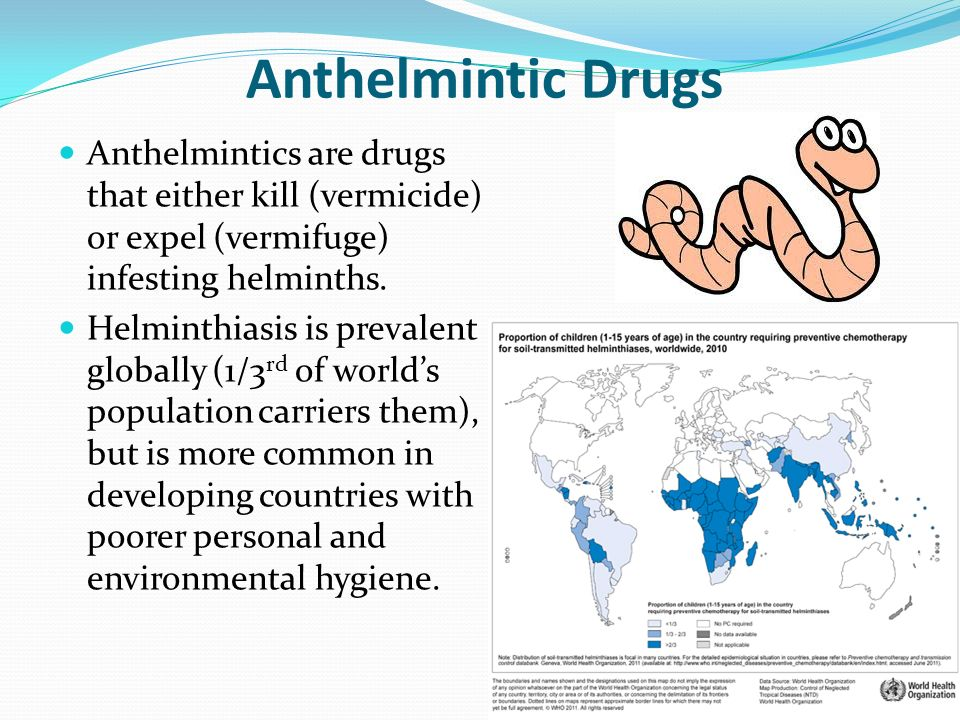 anthelmintic means