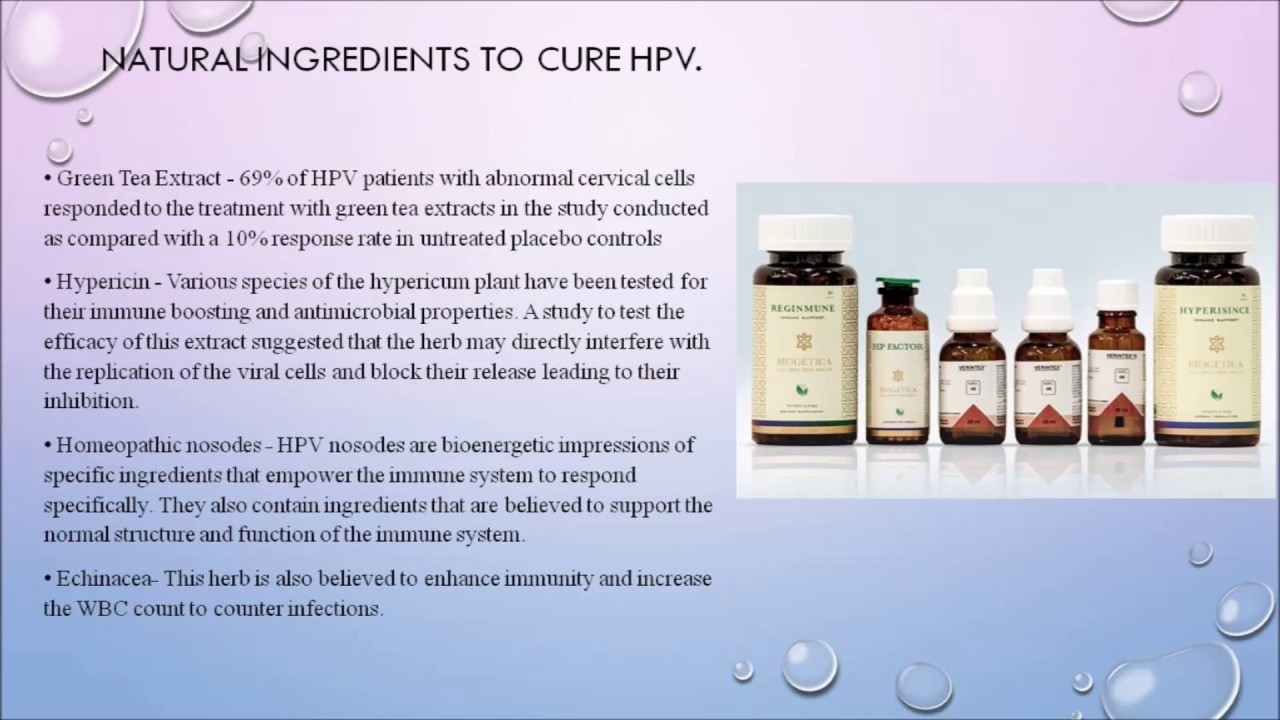 hpv virus natural cure)