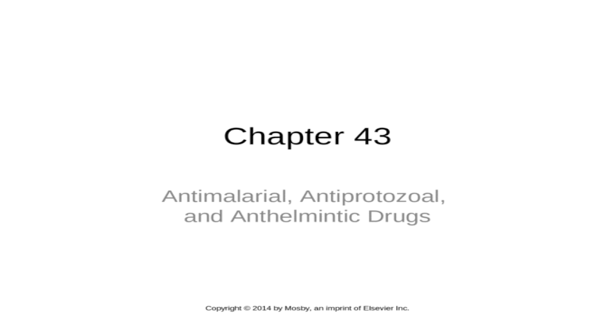antiprotozoal and anthelmintic)