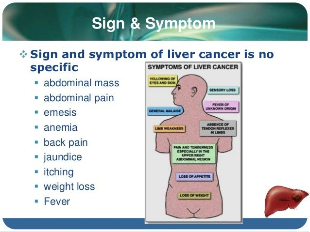 hepatic cancer and itching)